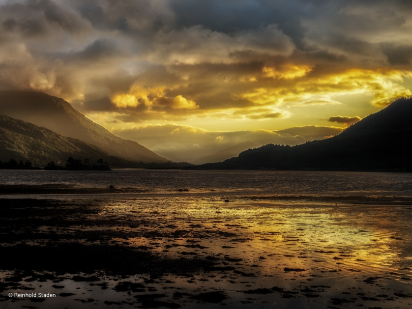 Sunset in Glencoe / Sonnenuntergang in Glencoe