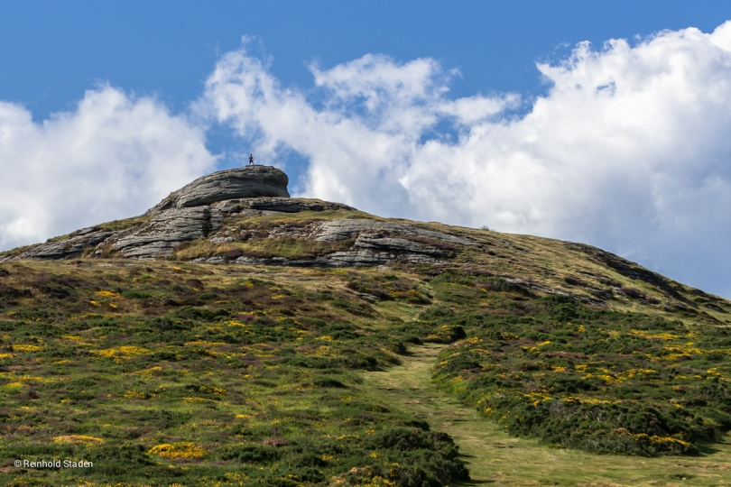Top of the world in Dartmoor / England