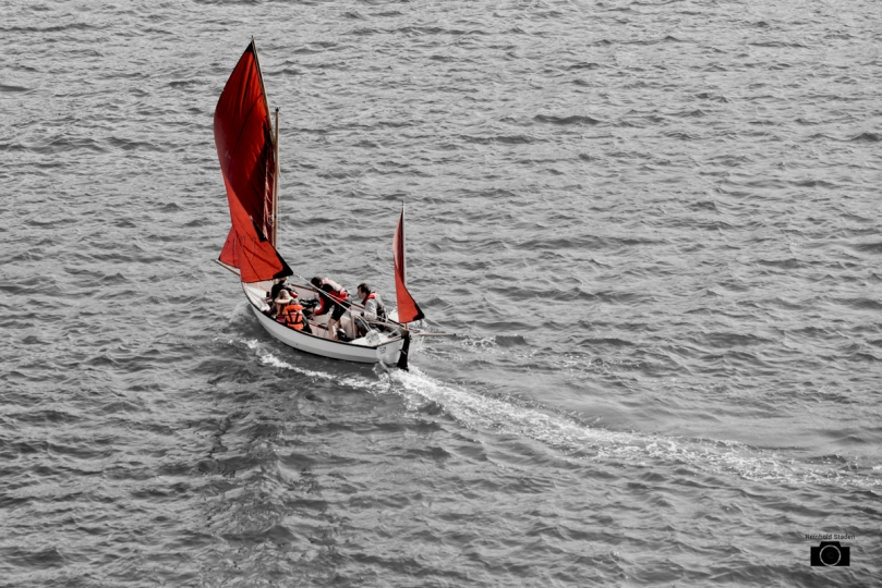 Sailing at Devon Coast