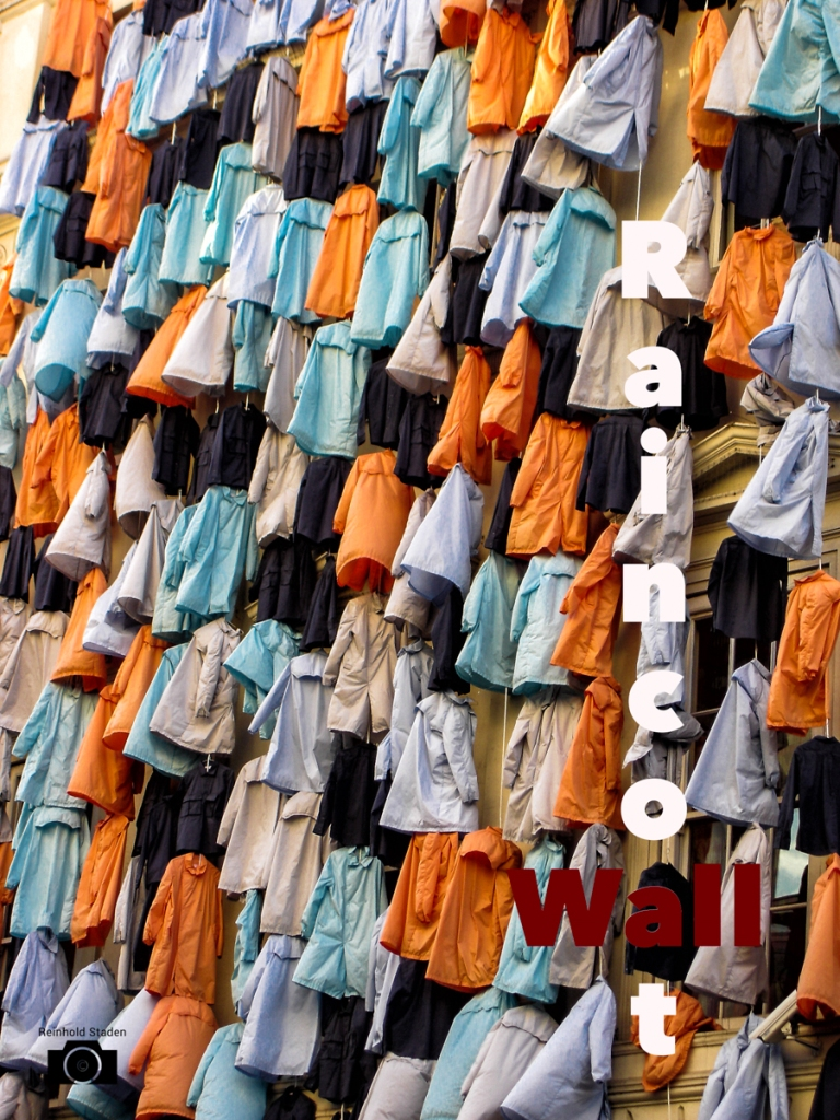 London - Raincoat wall - by Reinhold Staden