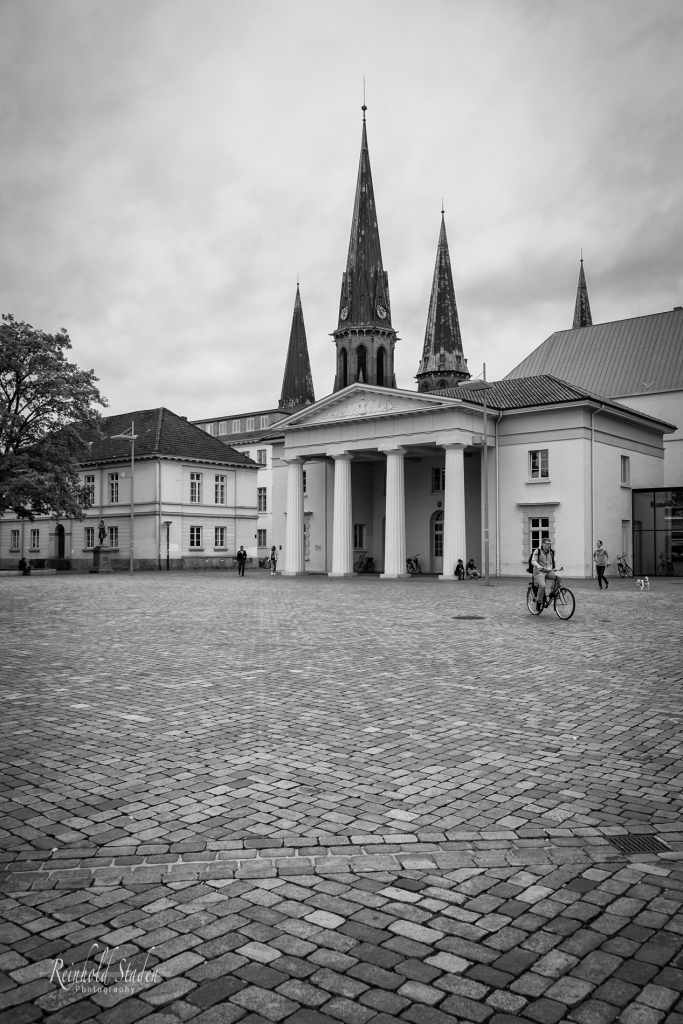 Palace Guardhouse and Lamberti Church by Reinhold Staden