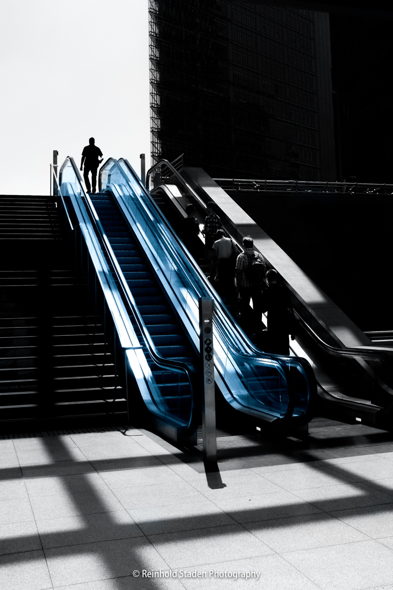 RSP - Reinhold Staden Photography - Blue Escalator